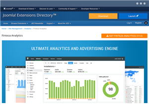 The free plugin for Finteza web analytics integration with Joomla websites