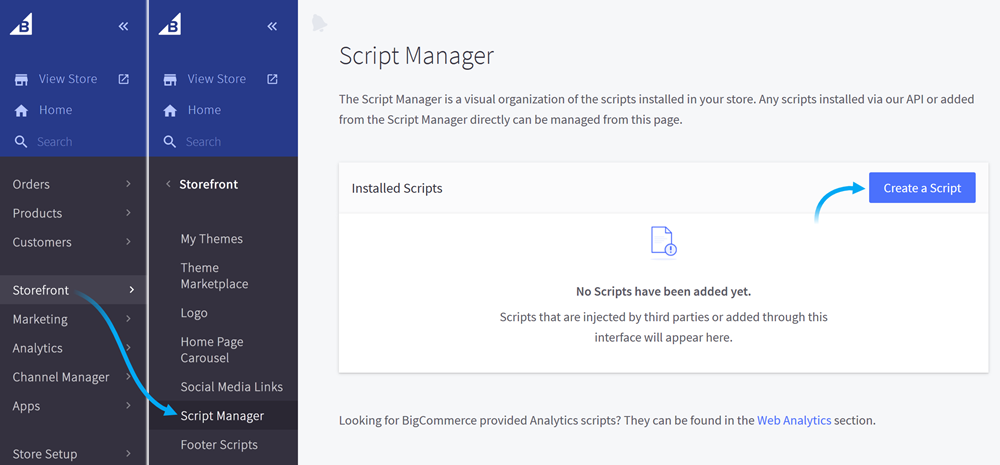 Open Script Manager and create a new script
